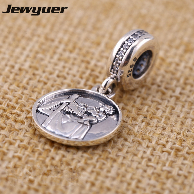 Fine jewelry Guardian of Travel charms 925 sterling-silver-jewelry fit charm bracelet necklace metal pendants DIy beads DA155
