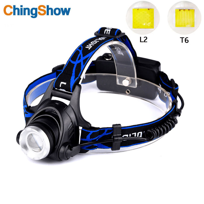 Waterproof LED Headlamp Cree XML-L2 XM-L T6 Led Headlight, Zoomable 3 Modes bright LED Headlights with Rechargeable Batteries C