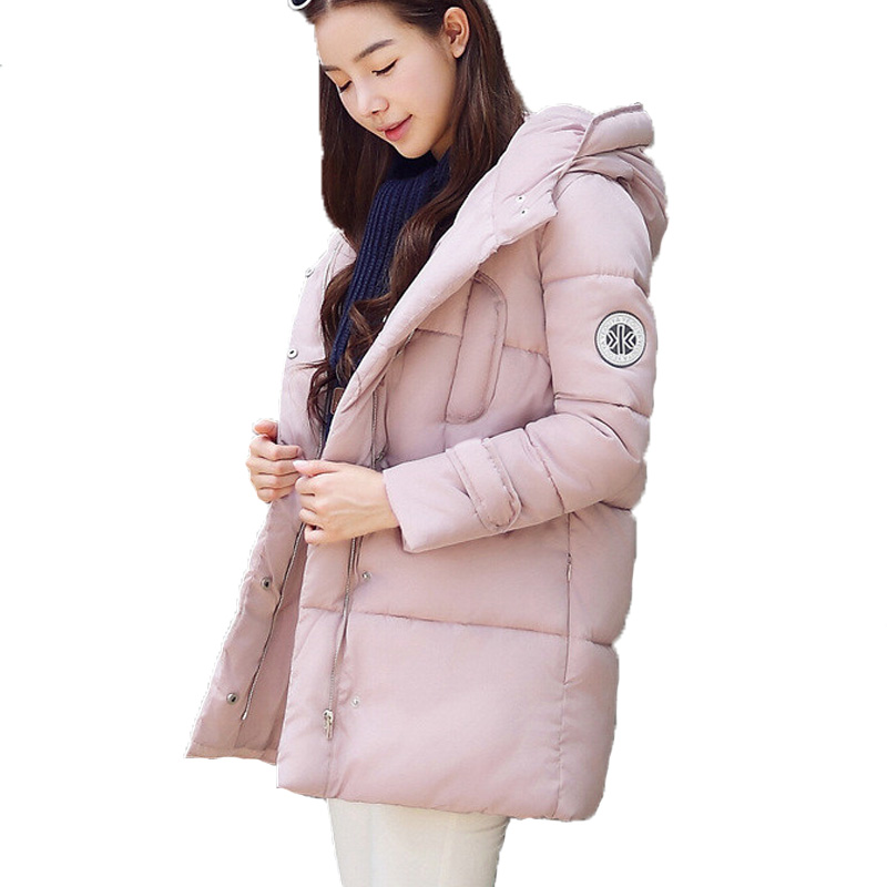 New winter coat  plus size down cotton-padded jacket medium-long with a hood wadded jacket  cotton-padded jacket female l 3xl winter jacket women s 2016 plus size slim down cotton padded jacket pocket long with a hood thermal brief down dy0010