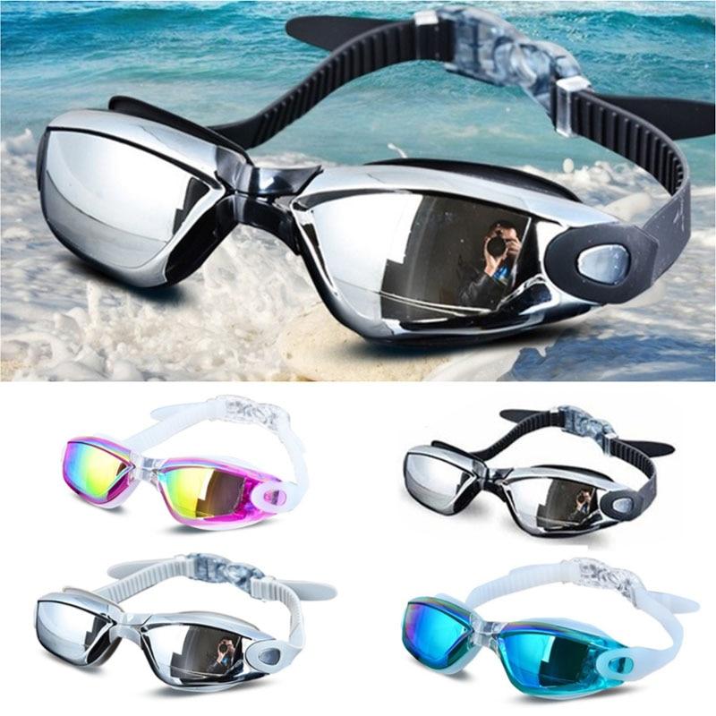 Large Frame Adult Anti-fog Waterproof UV Protection Swimming Goggles Glasses EC