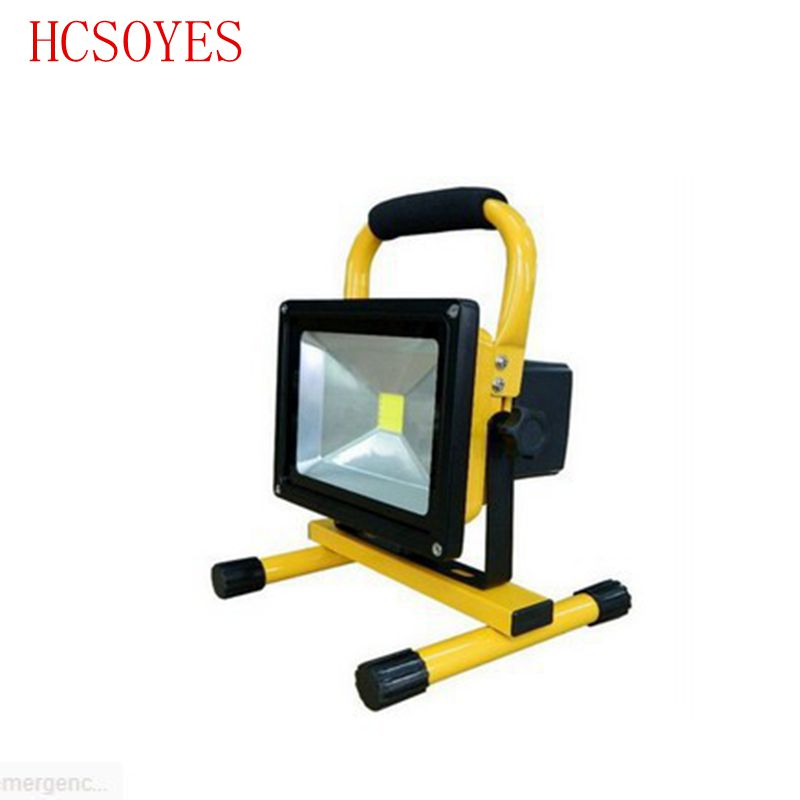 1pcs 10w Led Flood Lighting Rechargeable Led Emergency Lamp Portable Spotlight Battery Powered Outdoor Led Spot Lamp