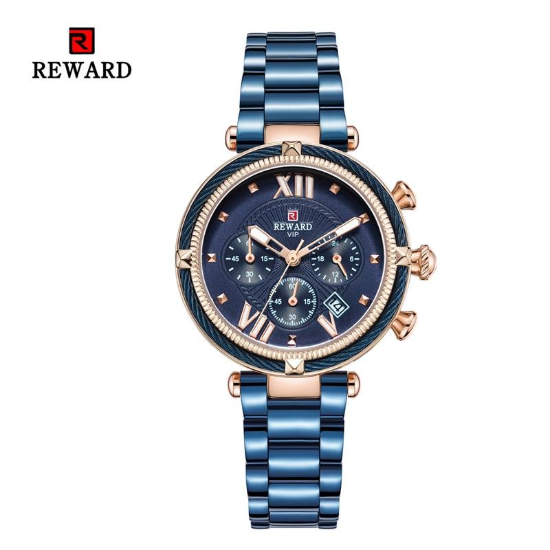 Relogios Feminino Luxury Multi-function Female Watch Women Waterproof Rhinestone Quartz Wrist Watches Stainless Steel Strap