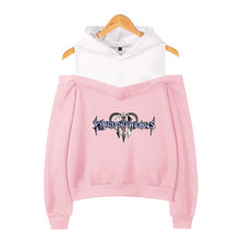 LUCKYFRIDAYF New Kingdom Hearts Hoodies Sweatshirts Women Sleeve Off-Shoulder Exclusive Women Album sala hot autumn Hoodies а н радищев избранное