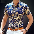 High Quality Printed Men Polo Shirt Men's Summer Polo Shirt With Short Sleeves Casual Slim Shirt Men S-4XL