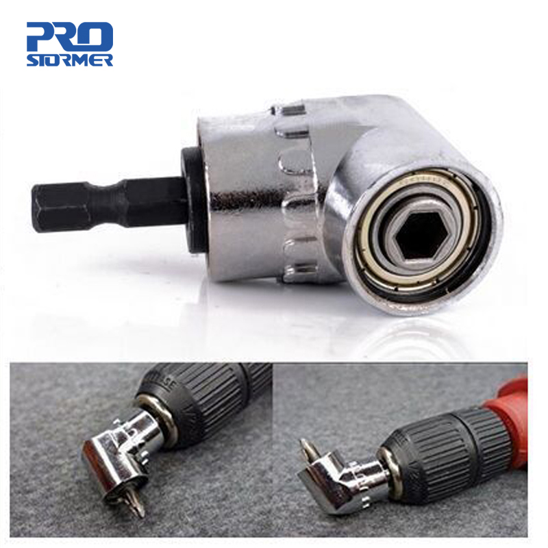 PROSTORMER 1/4 Magnetic Connector 105 Degree Adjustable Angle Drill Driver Screwdriver Hex Shank Power Drill Turning Screwdriver-in Tool Parts from Tools