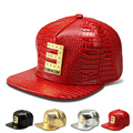 The new crocodile pattern baseball cap flat-brimmed hat letter EMINEM influx of people hip-hop hat
