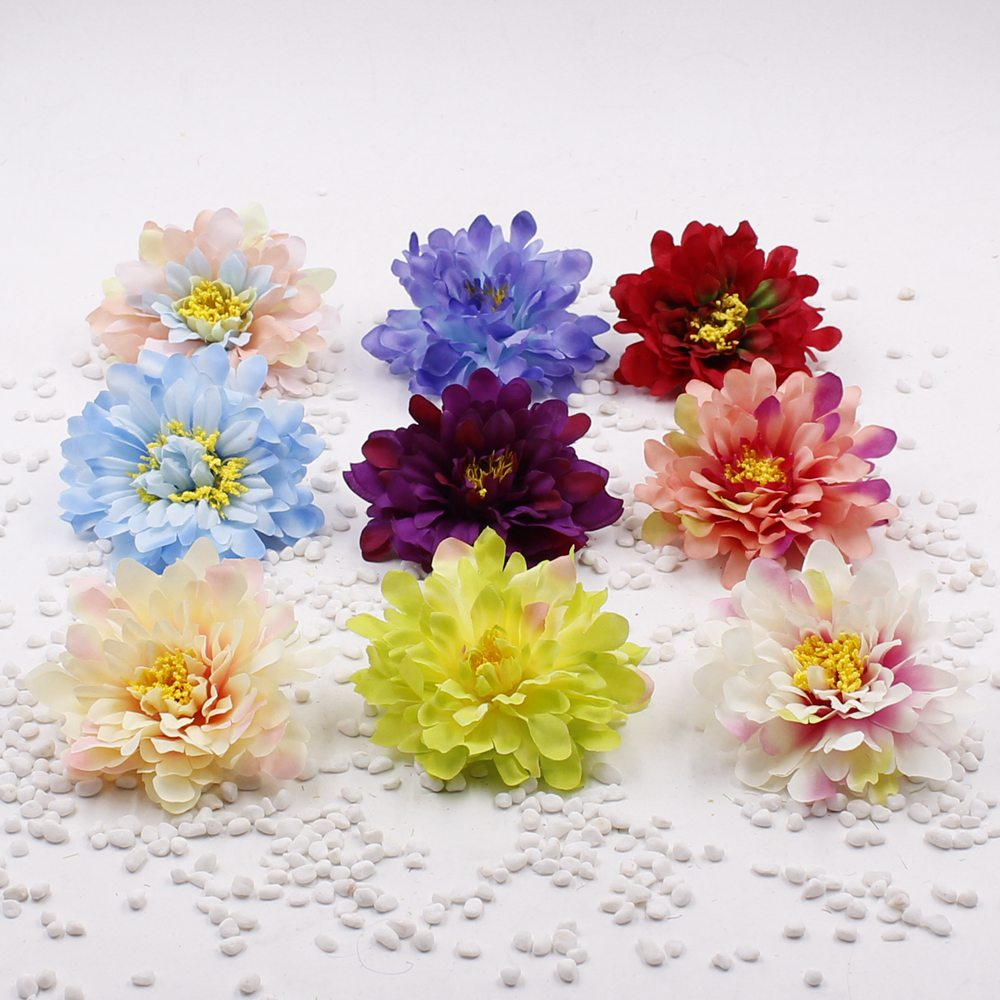 2pieces 10cm Silk Peony Flower Head Artificial Flowers For