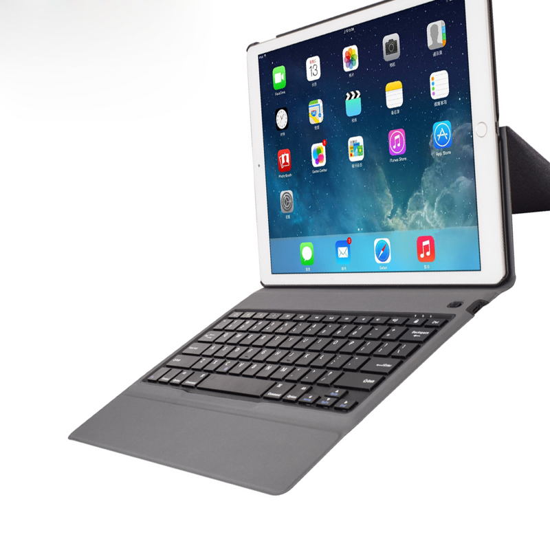 """Ultra thin bluetooth wireless keyboard for iPad pro 12.9""""  2017, High quality slim leather case + All -in-one Design+Ultra thin"""