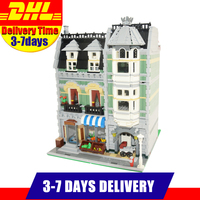 LELE 30005 Lepin 15008 2462Pcs City Street Creator Green Grocer Model Building Kits Puzzle Blocks Bricks