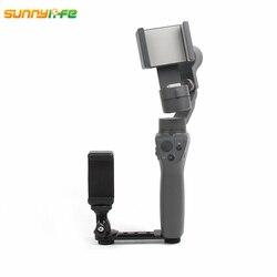 Sunnylife DJI OSMO Mobile 2 Handheld Gimbal Stabilizer Monitor Phone Clip Bracket Mount Extened Holder for Zhiyun Smooth Q 4/3