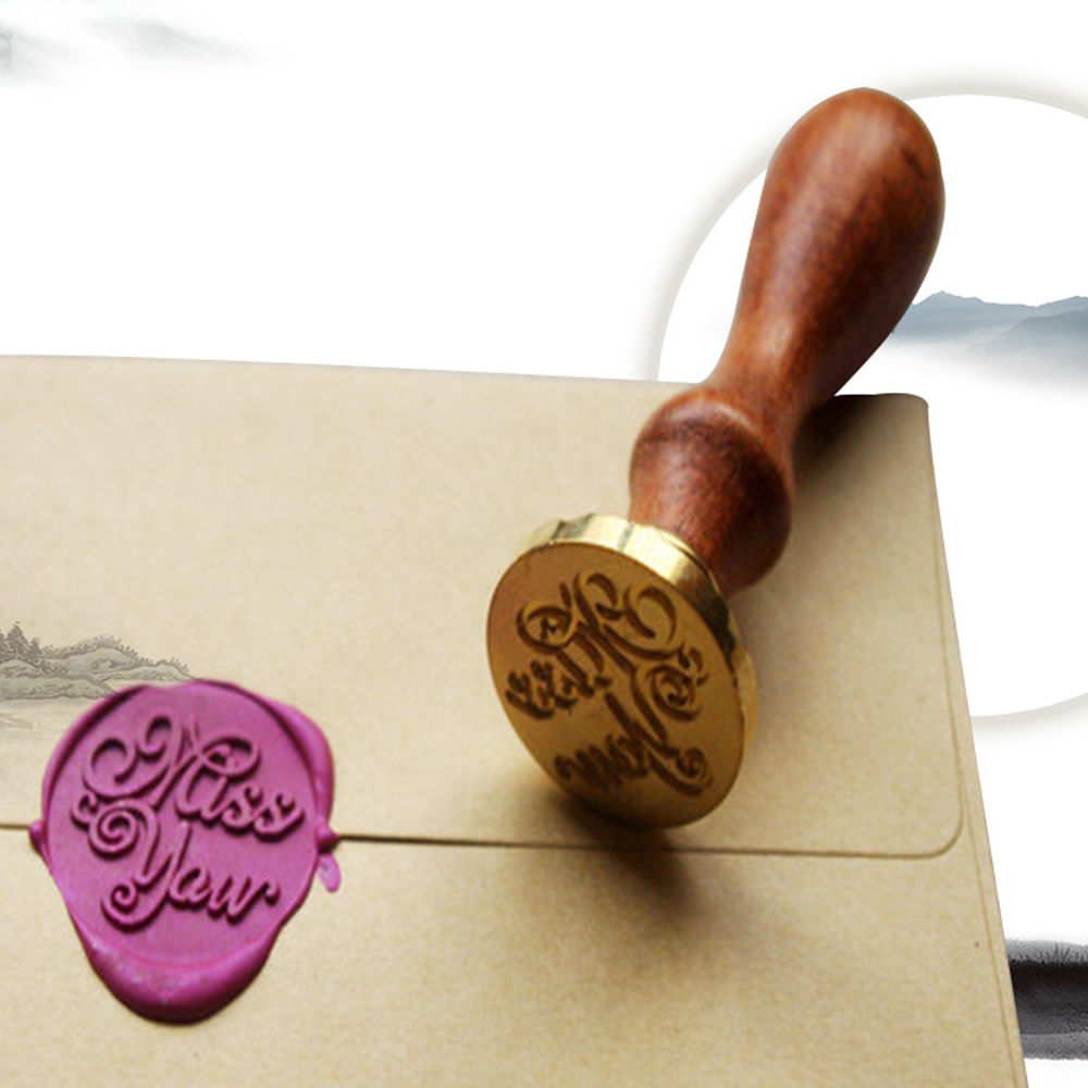 Unique Wood Handle Wax Seal Stamp Wedding CustomGreetings