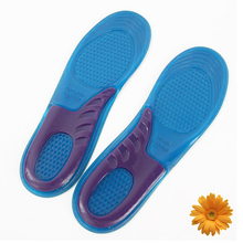 Купить с кэшбэком Hiking Feet Care Gel Insoles Inserts Men Athletic Shoes Cushion Women Football Sports Soles Shock Absorbing Silicone Gel Insoles