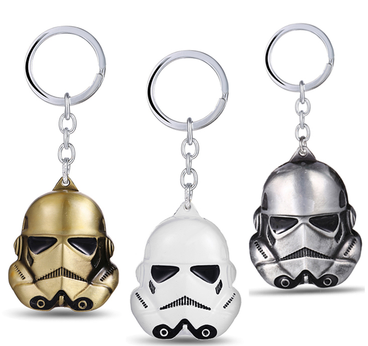 MS JEWELS Movie Fans Gifts Jewelry Star Wars Keychain Stormtrooper Mask Metal Key Rings  ...