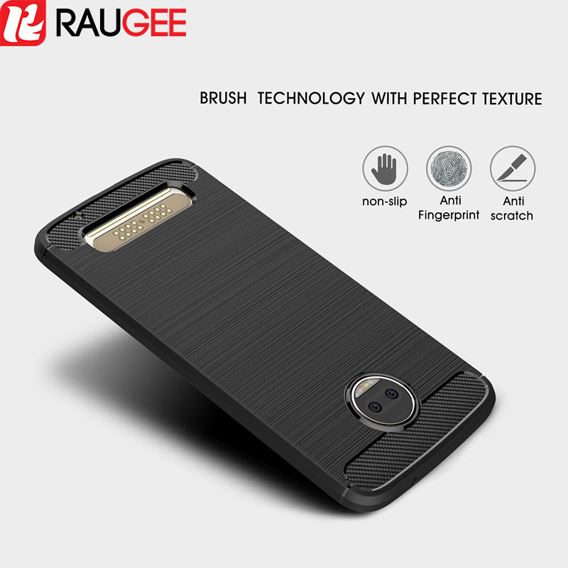 For Motorola Moto Z2 Force Case Protector TPU Bumper Case Anti-Knock Carbon Case Back Bumper Cover for Motorola Moto Z2 Force