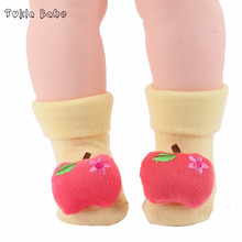 Новое прибытие детские носки детские носки весной и осенью мультфильм кукла ремень колокол детские носки весной и осенью хлопок животных носки