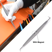 FOSHIO Micro Magnetic Wrap Squeegee for Car Corner Side Edge Carbon Fiber Vinyl Film Sticker Wrapping Scraper Magnet Tuck Tools