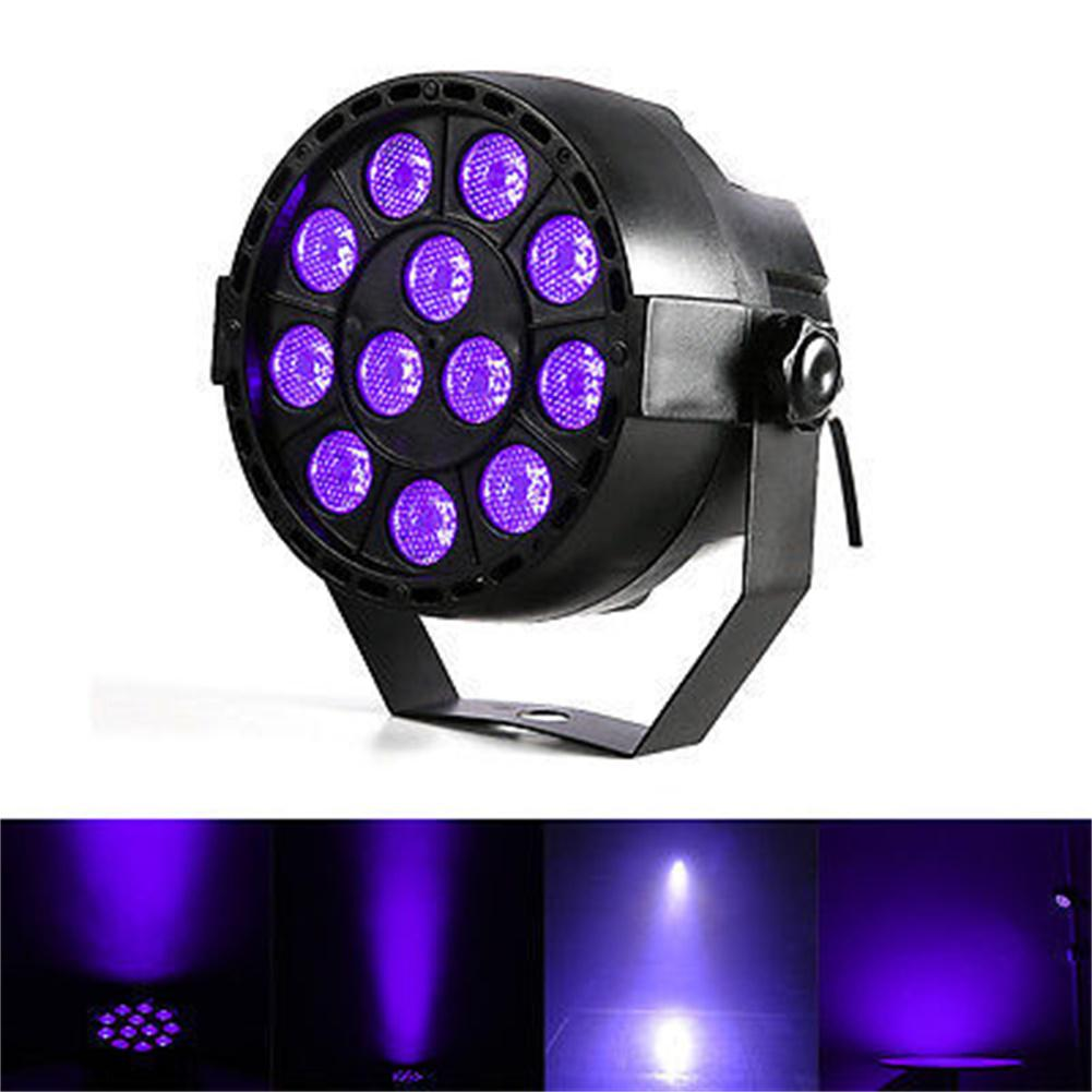 LumiParty 12LED Sound Sensor Projection Lamp UV Purple Light Stage Light for Club DJ Show Party Ballroom Bands