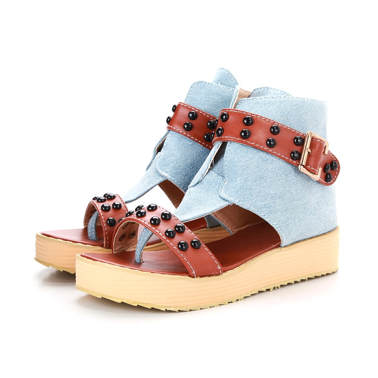 2017 Gladiator Sandals Women Tenis Feminino Big Size Sale 34-47 Wedges Sandals New Summer Zip Women Shoes Woman Bohemian X103 32 43 big size summer woman platform sandals fashion women soft leather casual silver gold gladiator wedges women shoes h19