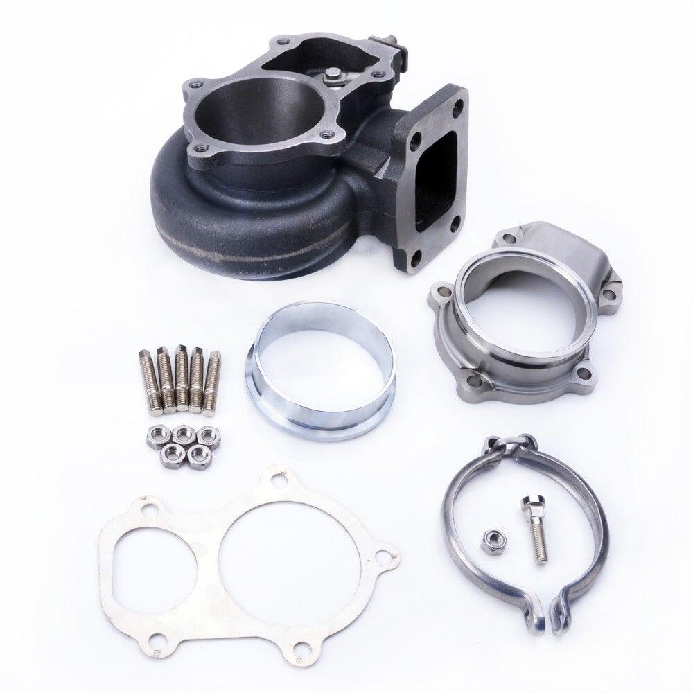 Kinugawa Kit de boîtier de Turbine Turbo AR.63 T3 5 boulons avec adaptateur bande V pour Garrett GT35R GT3582R 771300-0003