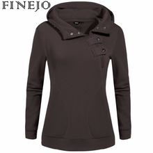 FINEJO XXXL Plus Size Sweatshirt 2017 Women Fashion Patchwork Pullover Hoodies Solid Color Long Sleeve Casual