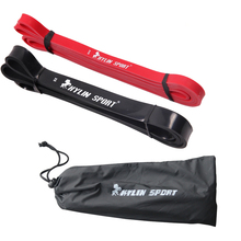 Free Shipping Set of 2 red and black Resistance Bands Loop Fitness Crossfit Power Lifting Pull Up Band цена