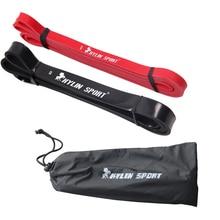 Бесплатная доставка Набор из 2 красных и черных полос сопротивления сопротивления Loop Fitness Crossfit Power Lifting Pull Up Band