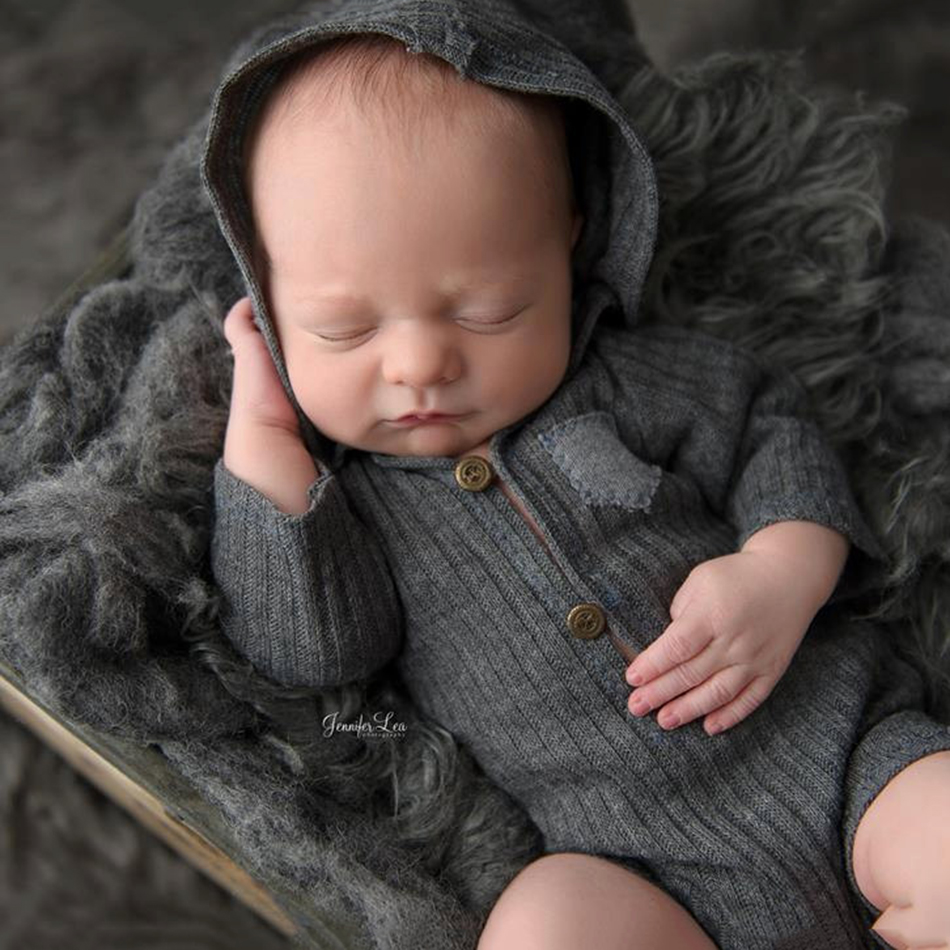 2018 Spring Summer Cotton Newborn Baby Boys Girls Long Sleeve   Rompers   Cheap Photography Props Clothes Photo Shoot For Studio
