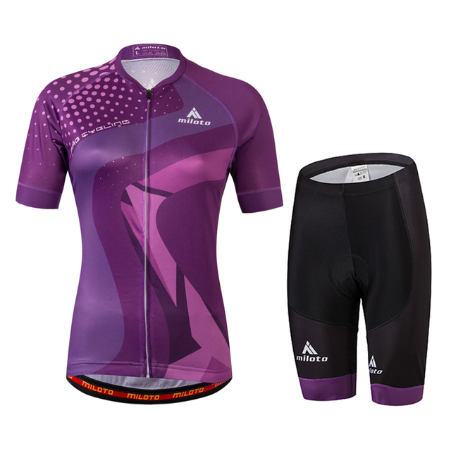 a2bc8dcc6 Womens Cycling Clothing Sets Short Sleeve Original Gauze Jersey   T-shirts    GEL Padded Shorts Suit Italian non-slip Summer