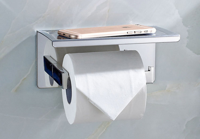 Toilet Paper Holder : Bathroom single tissue holder toilet paper holder tissue roll