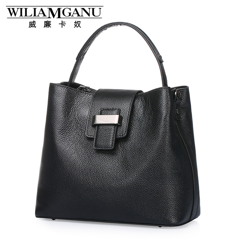 ФОТО WILIAMGANU new fashionable ladies European and American Style handbags head layer cowhide single shoulder bag Leisure handbag