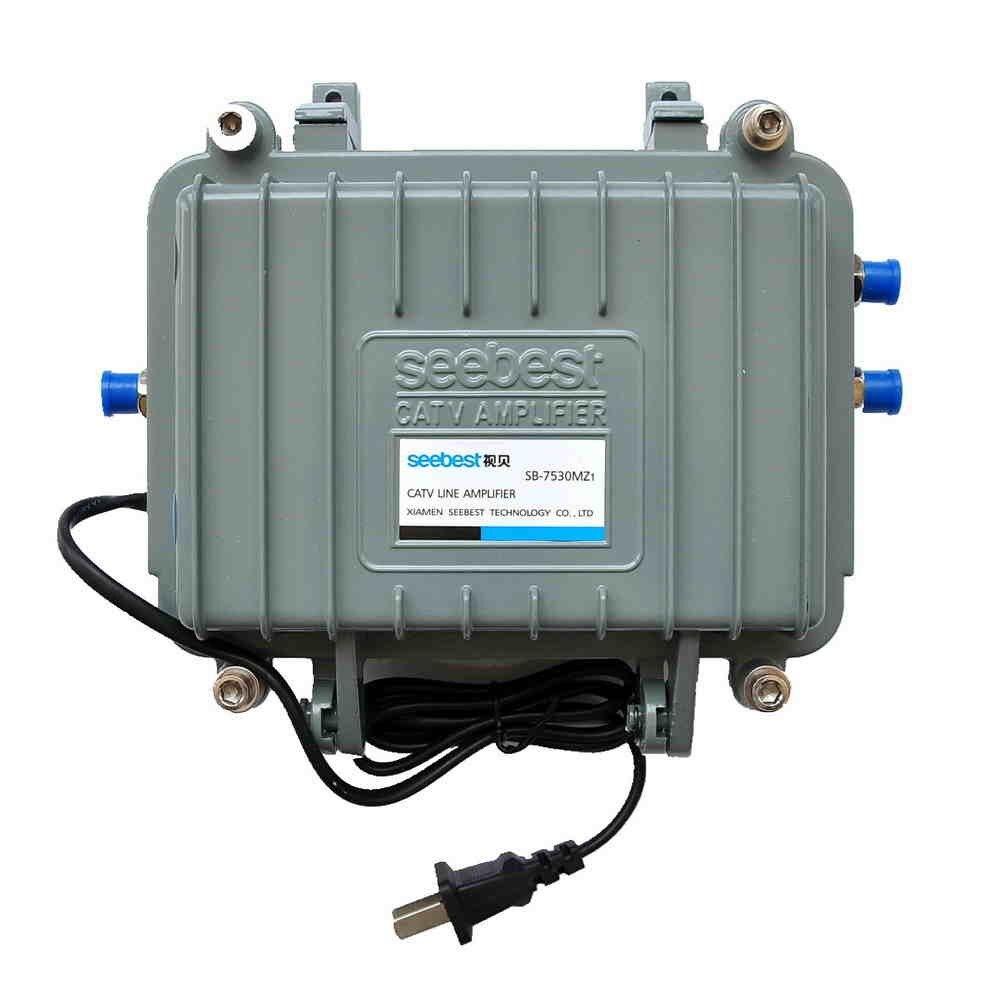 Nouveau 7530MZ1 haut extérieur étanche câble TV signal amplificateur 30 db Signal Booster 45-750 MHZ fréquence pour TV décodeur