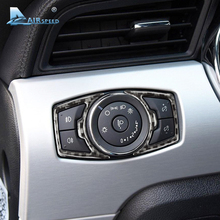 Airspeed Carbon Fiber headlight switch speaker frame for Ford Mustang Car Stickers Car-Styling 2015 2016 2017 Auto Accessories