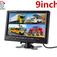 SITU TFT ЖК-дисплей сплит-экран Quad монитор видеонаблюдения безопасности Автомобильный подголовник монитор заднего вида 4 RCA разъемы 6 режим