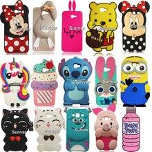 3D Cute Sulley Stitch Pig Minnie Judy Winnie Bear Soft Silicone Phone Case Back Cover Skin For Samsung Galaxy J5 Prime J7 Prime