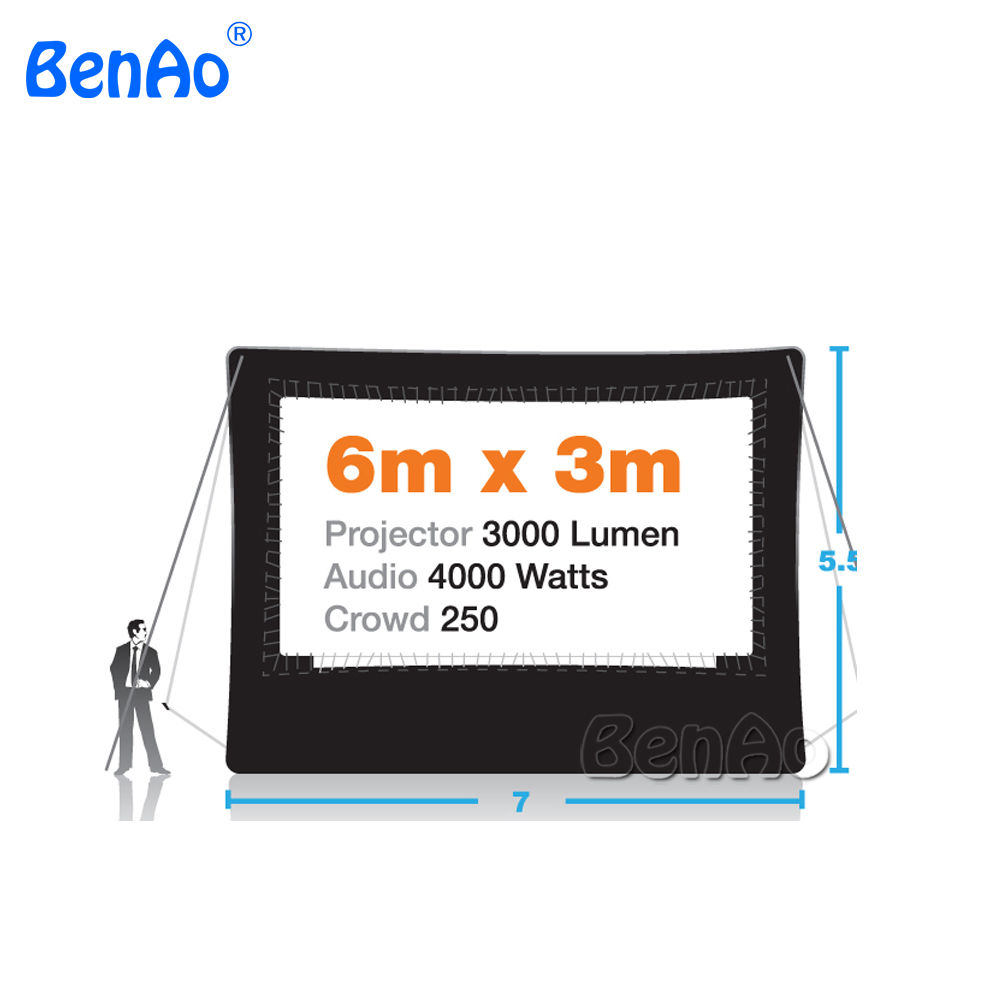 M006 Free shipping outdoor airtight inflatable movie screen,inflatable cinema indoor air screen inflatable,including air pump
