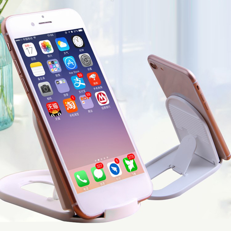 New Universal Adjustable Mobile Phone Holder For IPhone Xiaomi Plastic Phone Stand Desk Tablet Folding Cell Phone Stand Desktop