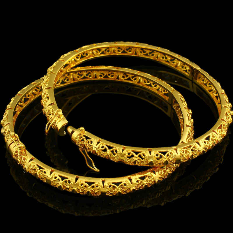 New Ethiopian Bangle Women  Gold Color Dubai Bride Wedding African/Arab/Middle East Bracelet/Bangle Jewelry