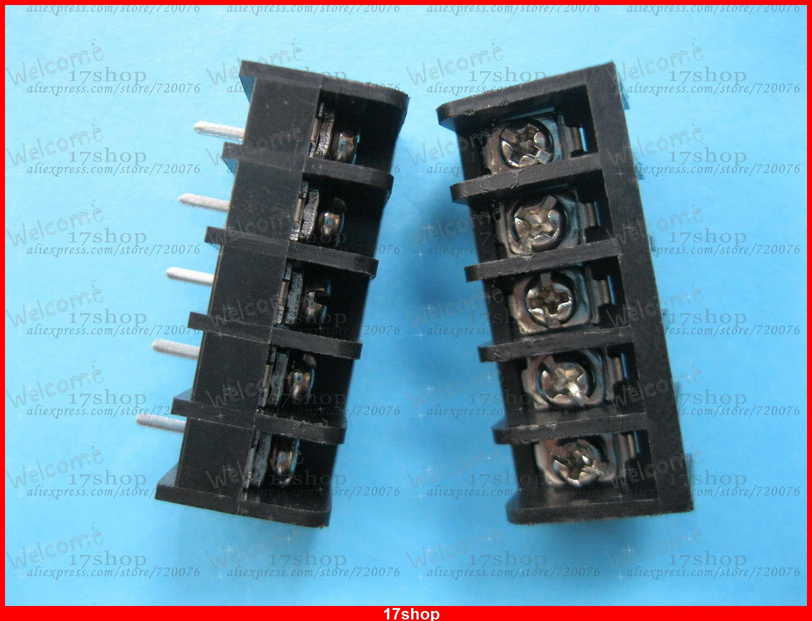 50 Pcs Black 5 Pin 635mm Screw Terminal Block Connector Barrier Din To 35mm Wiring Diagram Type Dc29b In Blocks From Home Improvement On Alibaba Group