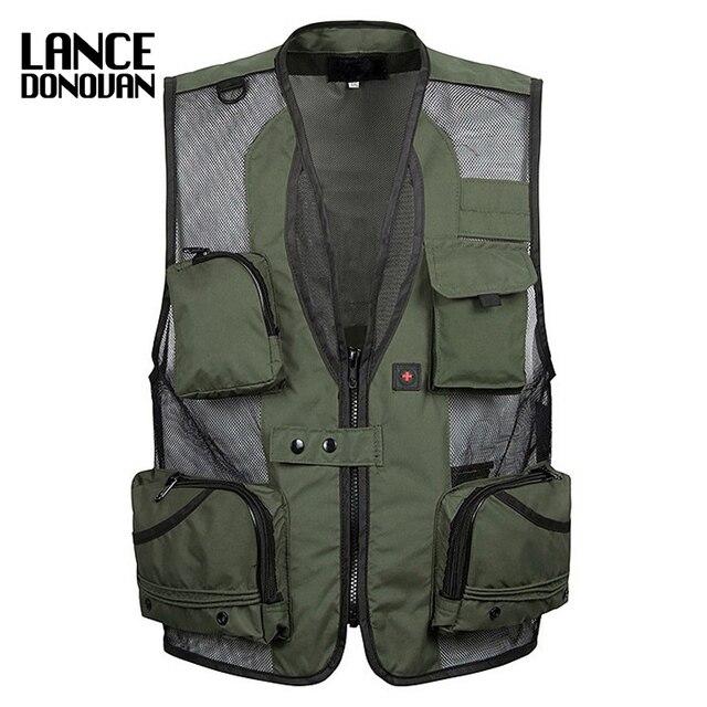 Mens christmas equipment cardigan Vests waistcoat plus size XXXL 5XL outerwear clothing photographer sleeveless jacket