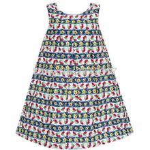 Girls Dress Cherry Flower Green Leaves Print Striped 3-8 frill trim vertical striped cherry print blouse