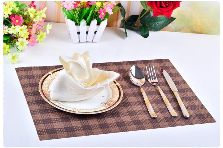 ПВХ сетки Placemat подставки дисковые колодки чаша держатель площадку горшок обеденный стол коврик теплоизоляция pad 4 шт./лот