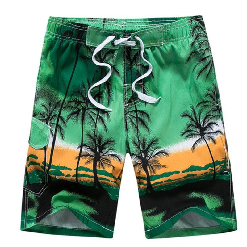 Men Swimsuit Shorts Briefs Surfing Beach-Board Summer Print