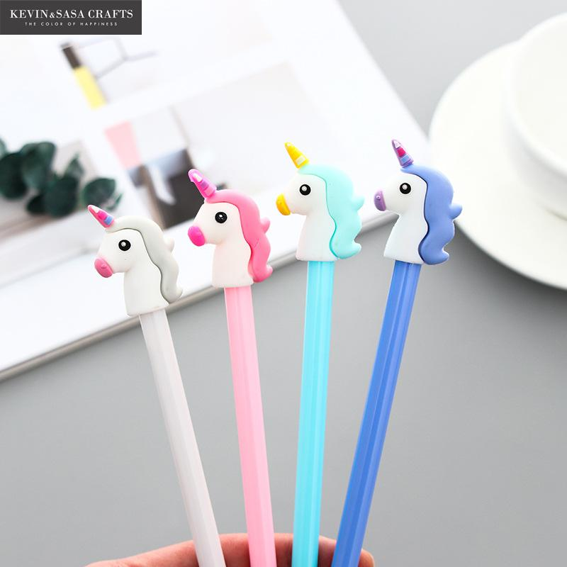 4Pcs/Set Gel Pen Unicorn Pen Stationery Kawaii School Supplies Gel Ink Pen School Stationery Office Suppliers Pen Kids Gifts цена