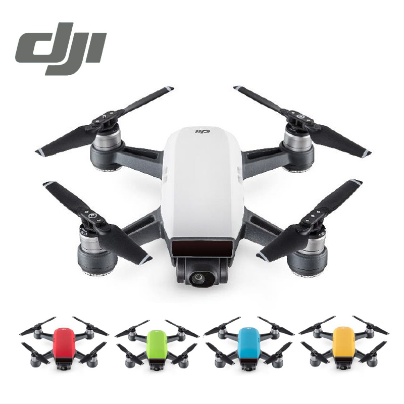 DJI Spark Drone White Yellow Blue Red 1080P HD Camera Drones Quadrotor RC FPV Quadcopter Sparks Original drone dji spark fly more combo 1080p new mini portable fpv drone dji quadcopter 100% original