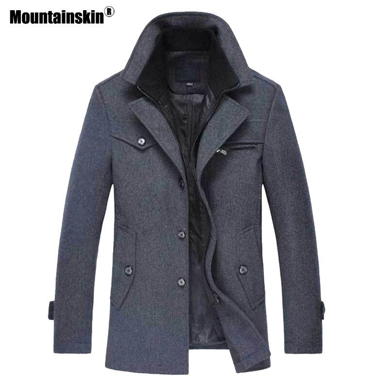 Mountainskin 冬男性厚いコートスリムフィットジャケットメンズカジュアル暖かい上着男性のウールのジャケット男性ブランド服 4XL SA606  グループ上の メンズ服 からの ウール混紡 の中 2
