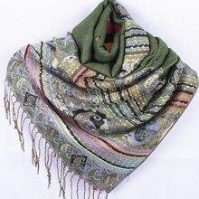Fashion Free shipping green Women's Pashmina shawl scarf Scarves