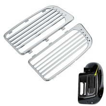 Black/Chrome ABS Radiator Grills Lower Fairing Twin Cooled For Harley Touring Models Electra Street Glide 2014-2018 17