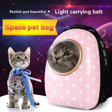 Space polka dot pet bag cat small dog go out portable backpack polka dot tote chain bag