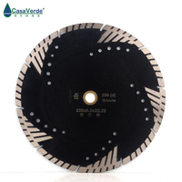 DC STB9 230mm circular diamond grinding disc 9 inch cutting blade for granite and marble