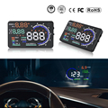 A8 coche HUD Head Up Display velocímetro de coche de 5,5 pulgadas parabrisas para proyector OBD2 lector de código de alarma de velocidad de MPH, KM /H pantalla